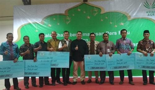6 Desa Bebas Api di Riau Terima Hadiah dari Asian Agri