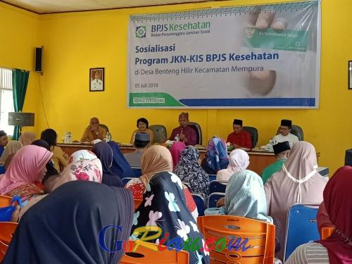 Terapkan Gotong Royong Semua Tertolong, BPJS Kesehatan Sosialisasikan Program JKN - KIS di Benteng Hilir Siak