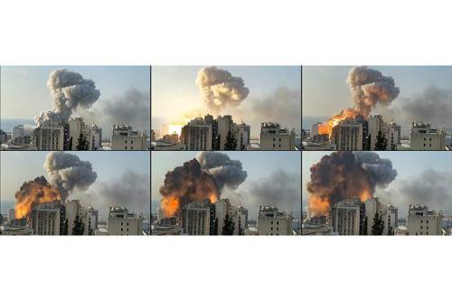 Ledakan di Beirut 1/5 Bom Atom Hiroshima, Picu Gempa Magnitudo 3,3
