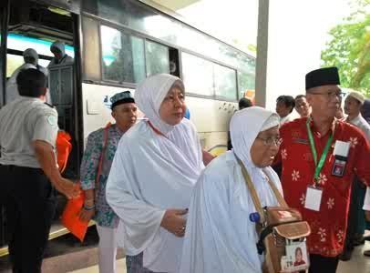 Giliran JCH Riau Kloter 5 Bertolak ke Tanah Suci