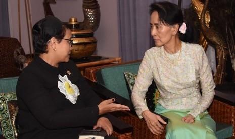 Ini Kesepakatan yang Dicapai dari Pertemuan Menlu Retno dengan Pemimpin Myanmar