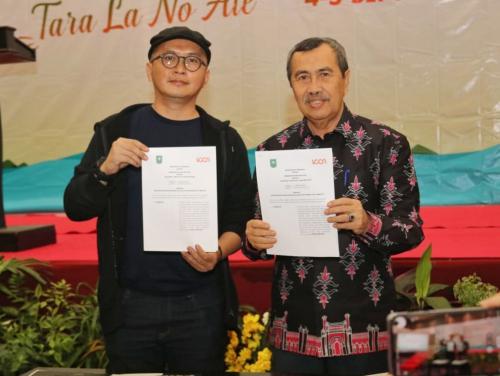 Tingkatkan Penguatan Jaringan Kota Kreatif di Riau, Gubri Syamsuar Teken MoU dengan ICCN