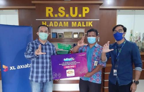 Dukung Pencegahan Covid-19, XL Axiata Salurkan APD ke Rumah Sakit di Sumatera
