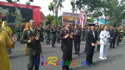 Perayaan HUT ke-74 TNI, Danrem 031 Wirabima: Jaga Profesionalisme Prajurit Agar Jadi Kebanggaan Rakyat