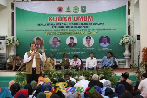 BNPB Gandeng Unri Untuk Pencegahan Karhutla di Riau