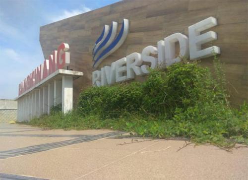 Warga Sayangkan Tugu Bangkinang Riverside Kurang Terawat