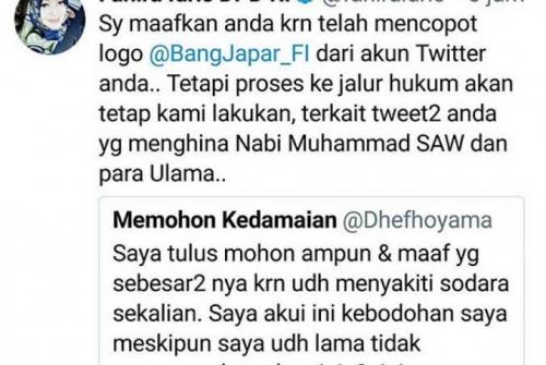 Menghina Nabi Muhammad, Pemilik Akun @dhefhoyama Diminta Serahkan Diri ke Polisi