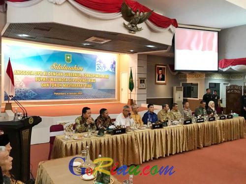 Silahturahmi Anggota DPR RI Dapil Riau di Pekanbaru Hanya Dihadiri 2 Bupati dan 1 Walikota