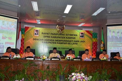 DPRD Kampar Gelar Rapat Paripurna Istimewa HUT ke-68 Kampar