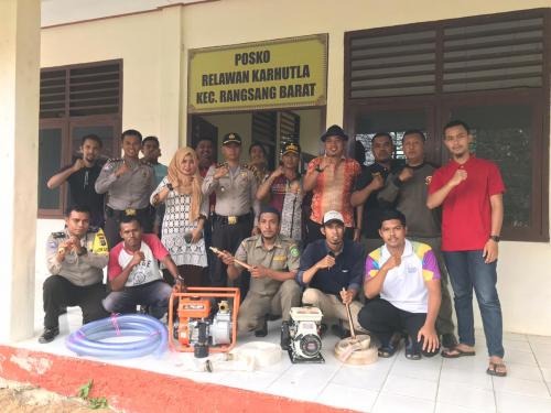 Bersama Pihak Kecamatan, Polsek Rangsang Barat Bentuk Posko Relawan Karhutla
