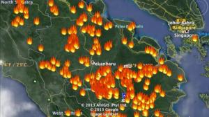 11 Titik Panas di Riau Tersebar di Empat Kabupaten