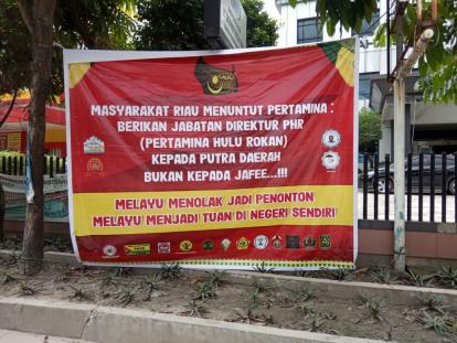 Aliansi Laskar Riau Demo Menolak Pergantian Dirut PHR yang Diduga Syarat Kepentingan