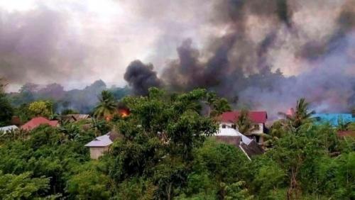 Buton Rusuh, 56 Rumah Dibakar Massa, Suasana Masih Mencekam