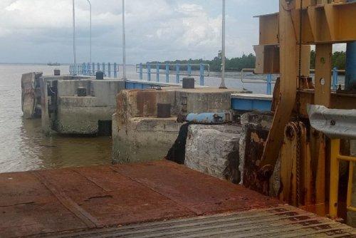 Dishub Bengkalis Hentikan Operasional Dermaga Satu Roro Sungai Selari