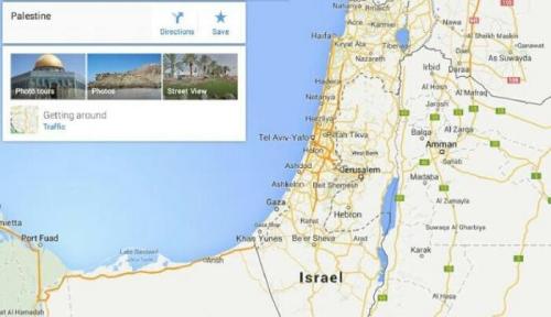 Google Hapus Negara Palestina dari Google Map, Diganti Israel