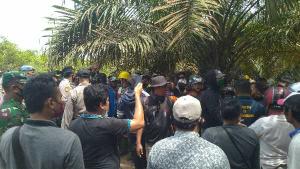 Eksekusi Lahan di Kuansing Memanas Setelah Seorang Warga Tanpa Senjata Tiba-tiba Ditarik Polisi