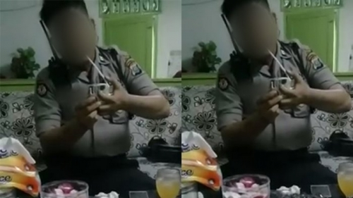 Rekam Polisi Berpakaian Dinas Lagi Isap Sabu dan Sebar Videonya, Pasutri di Medan Ditangkap
