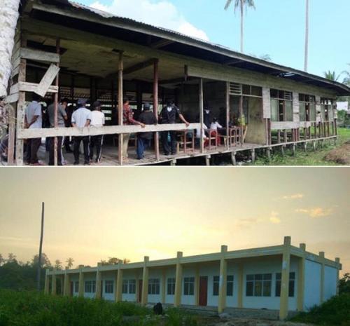 Saat Pelajar SD di Tanjung Lajau Belajar di Kelas Tanpa Dinding, Ternyata di Ibukota Inhil Ada Sekolah Permanen yang Tak Difungsikan