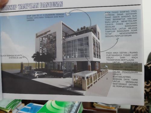 Pembangunan Rangka Pustaka Kuansing Selesai Desember