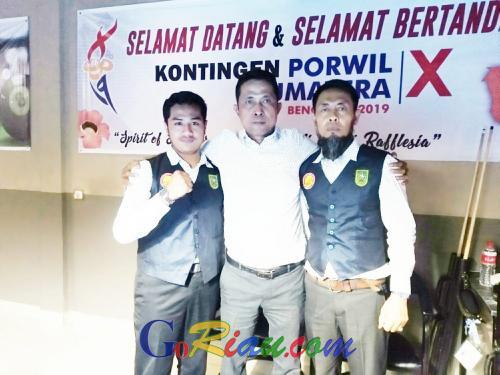 Billiar Riau Berhasil Kumpulkan 2 Medali Emas dan 1 Medali Perak di Porwil