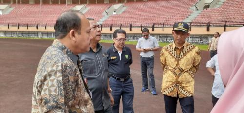 Surati Perusahaan, Pemprov Riau Minta Bantuan Perbaikan Stadion Utama