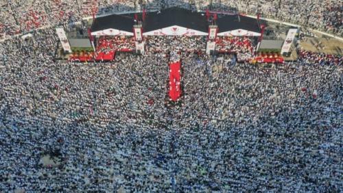 Rekaman Pidatonya Ditayangkan pada Kampanye Akbar, Habib Rizieq Jelaskan 10 Alasan Memilih Prabowo-Sandi