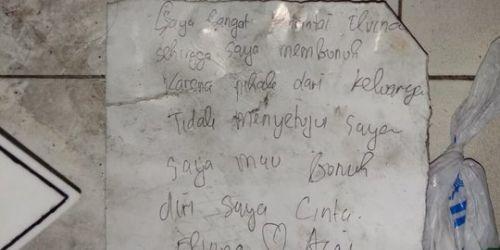 Elvina Dibunuh dan Dibakar Pacar Gara-gara Cinta Tak Direstui