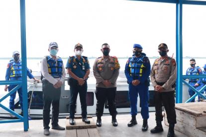 Pastikan Tidak Ada Aktivitas Mudik Lebaran, Polres Kepulauan Meranti Gelar Patroli Laut