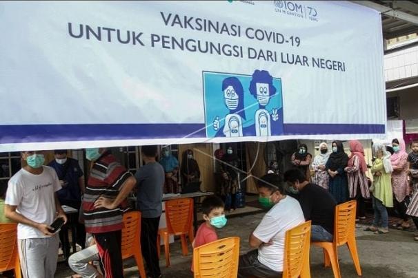 912 Pengungsi di Riau Sudah Vaksinasi Covid-19