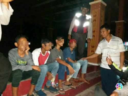 Lima Pelajar di Pangkalan Kerinci Tertangkap Saat Asik Ngelem