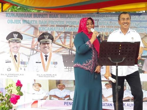 Pamitan dengan Masyarakat Kecamatan Sabak Auh, Ini yang Dikenang Bupati Siak