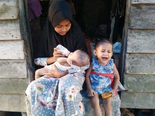 Menyedihkan, Tiga Bersaudara di Pelalawan Ini Hidup Tanpa Orangtua, Dua Masih Balita