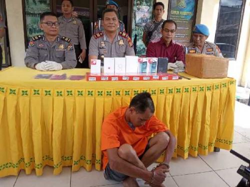 Pencuri 518 Handphone dan Uang Rp73 Juta di Pekanbaru Diringkus Polsek Tampan