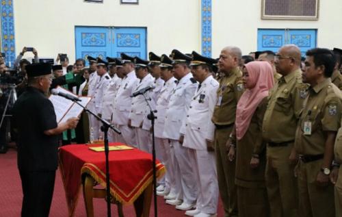 Lantik 279 Pejabat, Bupati Pelalawan: Pengangkatan dan Pemindahan Berdasarkan Hasil Evaluasi