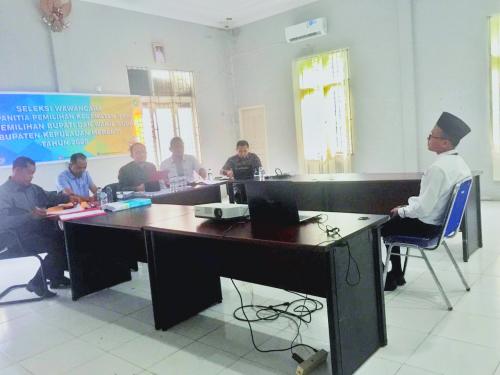 KPU Kepulauan Meranti Laksanakan Tes Wawancara Bagi Calon PPK, Ini Jadwalnya