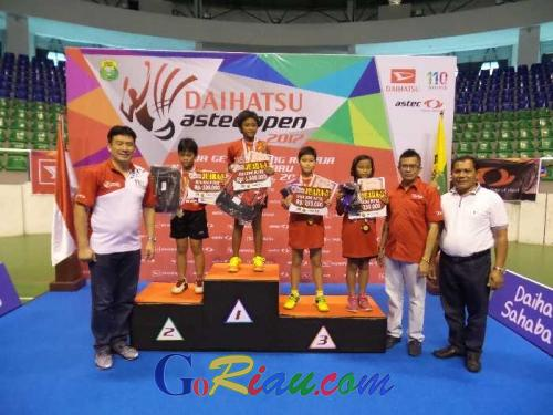 Daihatsu Astec Open 2017 Seri I Pekanbaru Berakhir, PB BRK Borong Medali