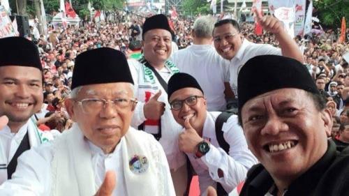 Maruf Amin Klaim Massa Kampanyenya di Tangerang 3 Kilometer