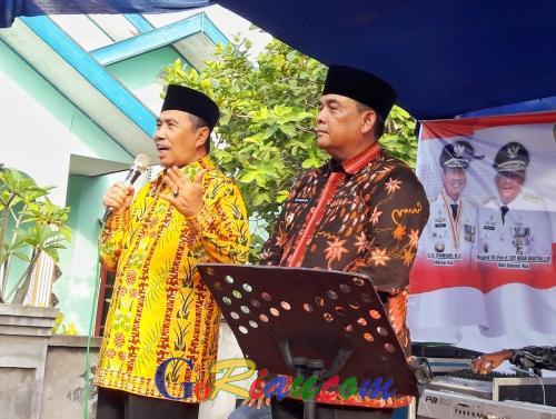 Syukuran di Kampar, Syamsuar - Edy Nasution Bahas Masalah Infrastruktur Prioritas dan Industri Halal