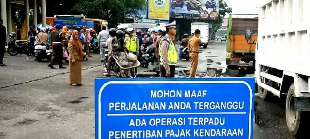 Segera Bayar Ya, Pekan Depan Ada Razia Pajak Kendaraan Serentak se Riau