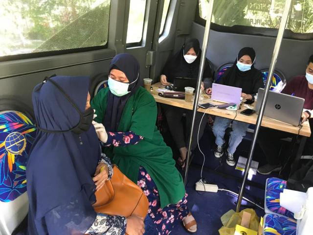 Bus Vaksin Covid-19 Sudah Layani 6.339 Warga, Kecuali di Rumbai Barat