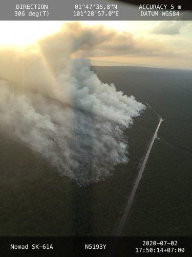 Porles Bengkalis Usut Penyebab Kebakaran HPT di Rupat