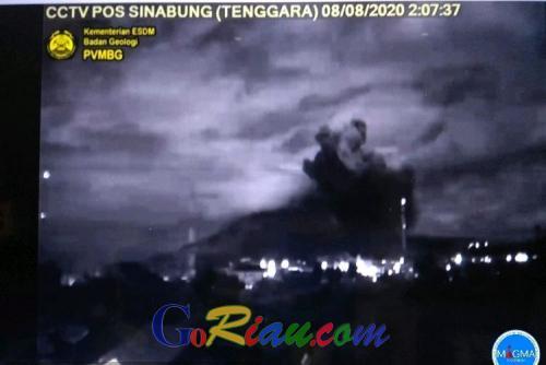 Gunung Sinabung Erupsi, Kolom Abu 2.000 Meter