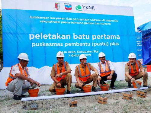 Bantu Pemulihan Pasca Gempa Bumi dan Tsunami di Sulawesi Tengah, Chevron Bangun Pustu Plus