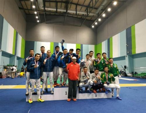 Juara Umum Kejurnas Anggar, 4 Atlet Bengkalis Lolos Seleksi SEA Games 2019