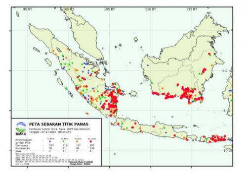 Titik Panas di Riau Kembali Bermunculan Saat Musim Penghujan