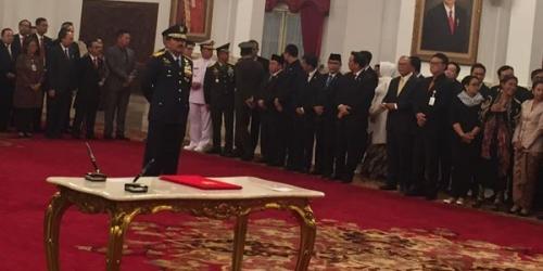 Presiden Jokowi Resmi Lantik Marsekal Hadi Tjahjanto Jadi Panglima TNI