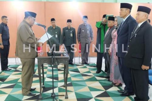 Empat Pejabat Eselon III dan IV Pemkab Inhil di Dilantik, Berikut Nama-namanya