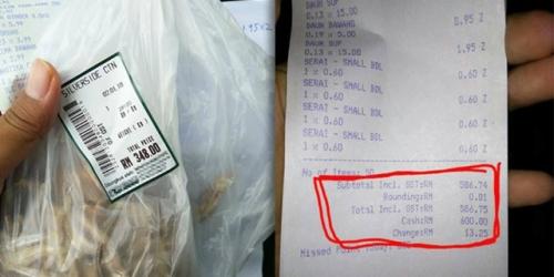 Wanita Ini Kaget Saat Lihat Struk Belanja, Harga Sebungkus Kecil Ikan Teri Rp1,16 Juta
