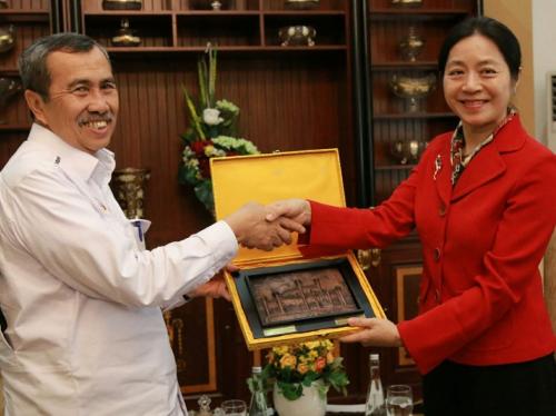 Terima Konsulat Jenderal Tiongkok, Ini yang Dibahas Gubernur Riau Syamsuar