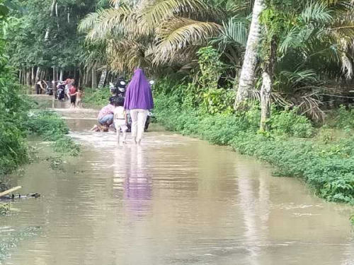 Sebagian Wilayah Kuansing Dihantam Banjir, Andi Putra Ingatkan Warga untuk Waspada